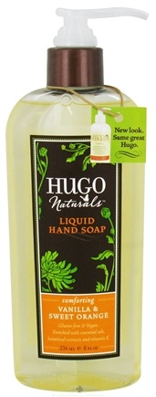 DROPPED: Hugo Naturals - Liquid Hand Soap Comforting Vanilla & Sweet Orange - 8 oz.