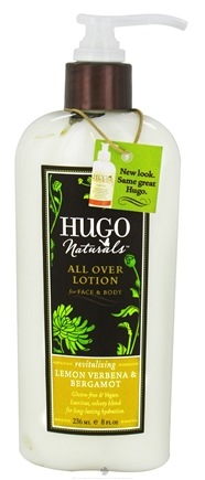 DROPPED: Hugo Naturals - All Over Lotion Revitalizing Lemon Verbena & Bergamot - 8 oz. CLEARANCE PRICED