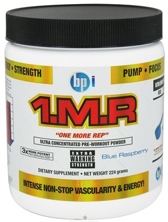 DROPPED: BPI Sports - 1 M.R Ultra Concentrated Pre-Workout Powder - 28 Servings Blue Raspberry - 224 Grams CLEARANCE PRICED