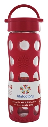 DROPPED: Lifefactory - Glass Beverage Bottle With Silicone Sleeve Raspberry - 16 oz.