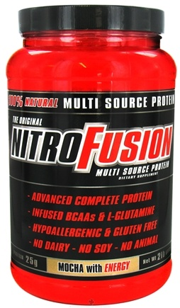 DROPPED: NitroFusion - Multi Source Protein Mocha with Energy - 2 lbs.