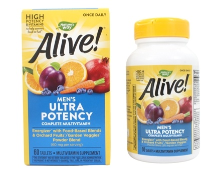 Zoom View - Alive Once Daily Men's Multi-Vitamin & Whole Food Energizer Ultra Potency