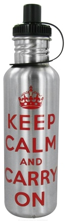 DROPPED: Conscious Containers - U Turn 2 Tap Stainless Steel Water Bottle Keep Calm - 27 oz. CLEARANCE PRICED