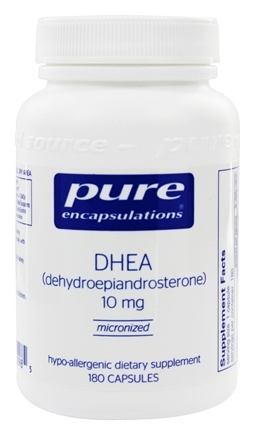 Pure Encapsulations - DHEA Micronized Dehydroepiandrosterone 10 mg. - 180 Vegetarian Capsules