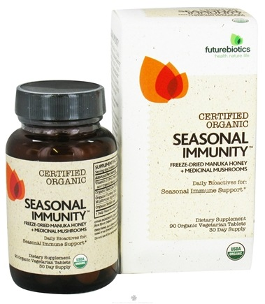 DROPPED: Futurebiotics - Certified Organic Seasonal Immunity - 90 Vegetarian Tablets CLEARANCE PRICED