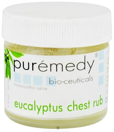 DROPPED: Puremedy - Eucalyptus Chest Rub Homeopathic Salve - 1 oz. CLEARANCE PRICED