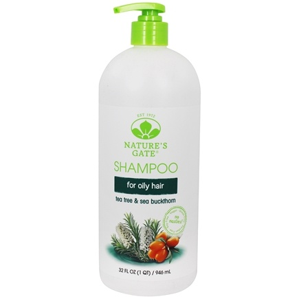 Nature's Gate - Shampoo Calming Tea Tree + Sea Buckthorn - 32 oz.