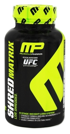 DROPPED: Muscle Pharm - Shred Matrix 8-Stage Weight-Loss System - 120 Capsules