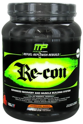 DROPPED: Muscle Pharm - Recon Advanced Recovery and Muscle Building System Fruit Punch - 2.64 lbs. CLEARANCE PRICED