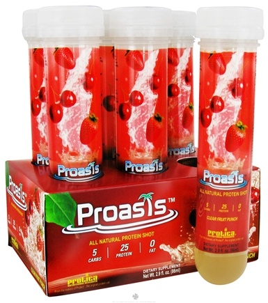 DROPPED: Protica Nutritional Research - Proasis All Natural Protein Shot Clear Fruit Punch - 2.9 oz.