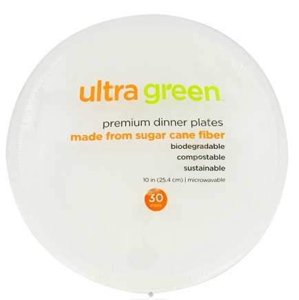 DROPPED: Ultra Green - Premium Dinner Plates 10 Inches - 30 Pack CLEARANCE PRICED
