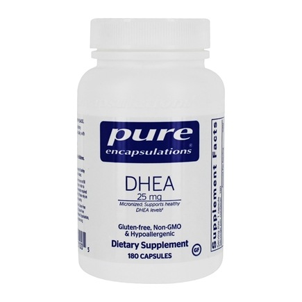 Pure Encapsulations - DHEA Micronized Dehydroepiandrosterone 25 mg. - 180 Vegetarian Capsules