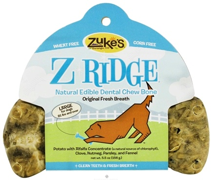 DROPPED: Zuke's - Z-Ridge Dental Chew Bone Large Original Fresh Breath - 5.5 oz.