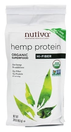 Nutiva - Organic Hemp Protein Hi-Fiber - 30 oz. (formerly Organic Hemp Protein Plus Fiber)
