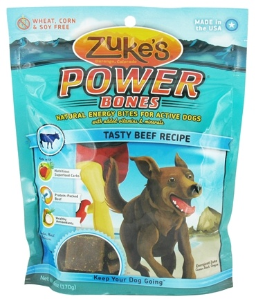 DROPPED: Zuke's - Power Bones Energy Treats for Active Dogs Tasty Beef Recipe - 6 oz.