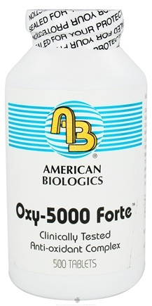 DROPPED: American Biologics - Oxy-5000 Forte - 500 Tablets CLEARANCE PRICED