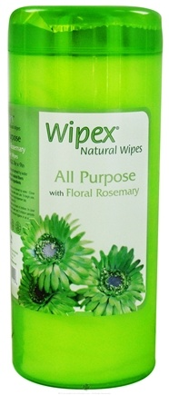 DROPPED: Wipex Natural Wipes - All Purpose Wipes with Floral Rosemary Extra Large 7 in. x 9 in. - 30 Wipe(s) CLEARANCE PRICED