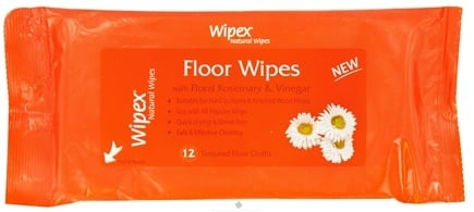 DROPPED: Wipex Natural Wipes - Floor Wipes with Floral Rosemary & Vinegar - 12 Wipe(s)