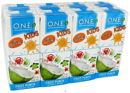 DROPPED: O.N.E. - Kids Coconut Water 8 Pack Fruit Punch - 6.75 oz. CLEARANCE PRICED