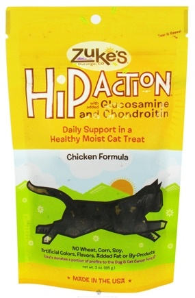 DROPPED: Zuke's - Hip Action Cat Treats Chicken Formula - 3 oz.