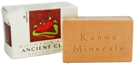 DROPPED: Zion Health - Ancient Clay Organic Bar Soap Mountain Rain - 6 oz. CLEARANCE PRICED