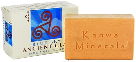 DROPPED: Zion Health - Ancient Clay Organic Bar Soap Blue Sky - 6 oz. CLEARANCE PRICED