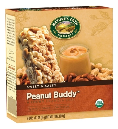 DROPPED: Nature's Path Organic - Chewy Granola Bars Sweet & Salty Peanut Buddy - 6 Bars CLEARANCE PRICED