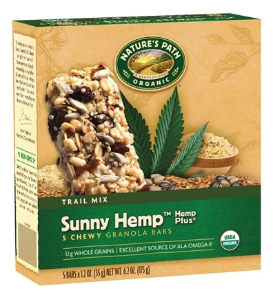 DROPPED: Nature's Path Organic - Chewy Granola Bars Hemp Plus Trail Mix Sunny Hemp - 6 Bars CLEARANCE PRICED