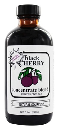 Natural Sources - Black Cherry Concentrate Unsweetened - 8 oz.