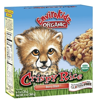 DROPPED: Nature's Path Organic - EnviroKidz Organic Crispy Rice Cereal Bars Cheetah Berry Blast - 6 Bars CLEARANCE PRICED
