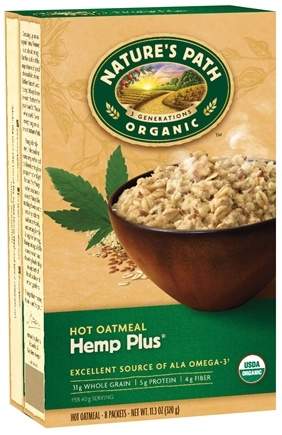 DROPPED: Nature's Path Organic - Instant Hot Oatmeal 8 x 40g Packets Hemp Plus - 11.3 oz.