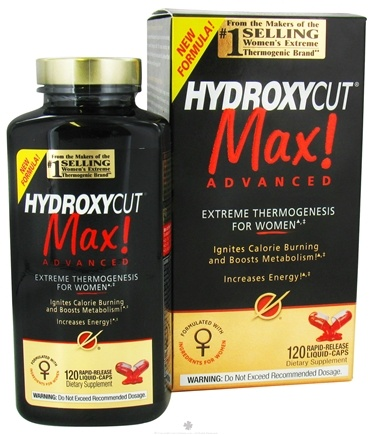 DROPPED: Muscletech Products - Hydroxycut Max Advanced For Women - 120 Liquid Capsules Formerly Pro Clinical