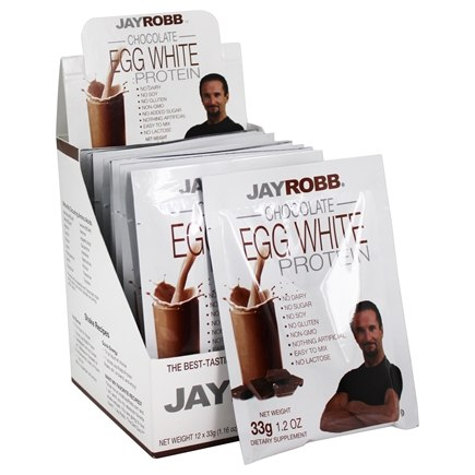 Jay Robb - Egg White Protein Powder Chocolate - 12 Packet(s)