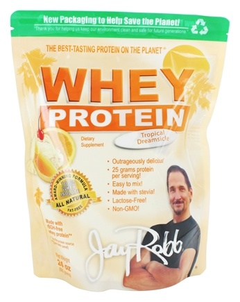 Jay Robb - Whey Protein Isolate Powder Tropical Dreamsicle - 24 oz.