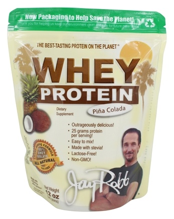 Jay Robb - Whey Protein Isolate Powder Pina Colada - 12 oz.