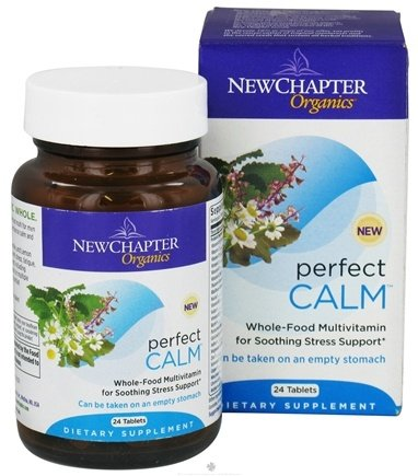 DROPPED: New Chapter - Perfect Calm Whole-Food Multivitamin with Holy Basil  - 24 Tablets