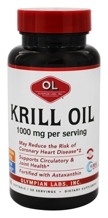 Olympian Labs - Krill Oil 1000 mg. - 60 Softgels