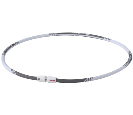DROPPED: Phiten - Titanium Necklace X30 Edge 22 inch White - CLEARANCE PRICED