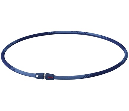 DROPPED: Phiten - Titanium Necklace X30 Edge 18 inch Blue - CLEARANCE PRICED