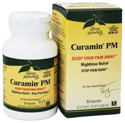 EuroPharma - Terry Naturally Curamin PM with BCM-95 - 30 Capsules