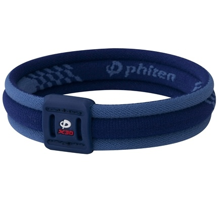 DROPPED: Phiten - Titanium Bracelet X30 Edge 7 1/2 inch Blue - CLEARANCE PRICED