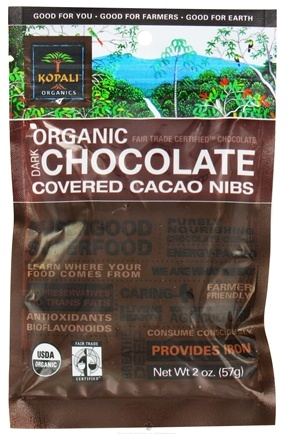 Zoom View - Organic Dark Chocolate Covered Cacao Nibs