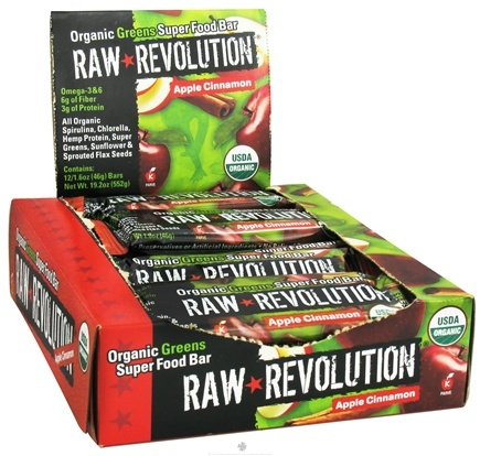 DROPPED: Raw Revolution - Organic Greens Super Food Bar Apple Cinnamon - 1.6 oz.