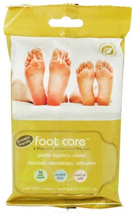 DROPPED: Natural Essentials - Foot Care Gentle Hygienic Wipes - 32 Wipe(s) CLEARANCE PRICED
