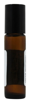 Sanctum Aromatherapy - Amber Glass Bottle with Roll On Applicator and Black Cap - 10 ml.