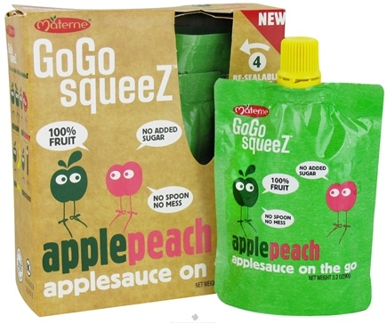 DROPPED: GoGo squeeZ - AppleSauce On The Go Apple Peach - 4 Pack/3.2 oz.