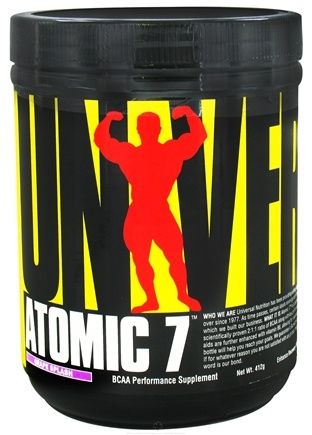DROPPED: Universal Nutrition - Atomic 7 BCAA Performance Grape Splash 30 Servings - 412 Grams CLEARANCE PRICED