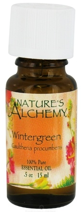 DROPPED: Nature's Alchemy - 100% Pure Essential Oil Wintergreen - 0.5 oz. CLEARANCE PRICED
