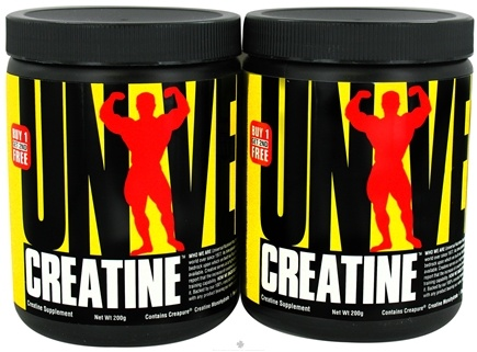 DROPPED: Universal Nutrition - Creatine Twin Pack Buy 1 Get 2nd Free 200g Each - 400 Grams