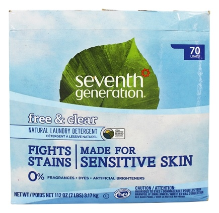 Seventh Generation - Natural Laundry Detergent Powder Free & Clear - 112 oz.
